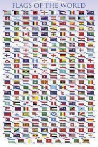 POSTER ΣΗΜΑΙΕΣ ΤΟΥ ΚΟΣΜΟΥ 61 X 91.5 CM σπίτι  amp  διακόσμηση posters 61 91 5 τεχνη   εκπαιδευση