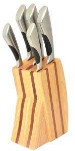 ΞΥΛΙΝΗ ΒΑΣΗ FISSLER RAVENNA ΜΕ 5 ΜΑΧΑΙΡΙΑ σπίτι  amp  διακόσμηση μαχαιρια κουζινασ βασεισ