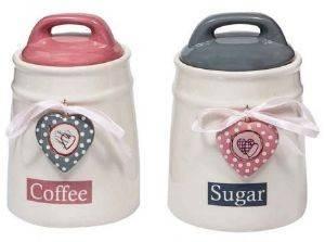 ΒΑΖΑ ΑΠΟΘΗΚΕΥΣΗΣ MARVA ΚΑΡΔΙΑ KEΡΑΜΙΚΑ 2TMX 12X17CM σπίτι  amp  διακόσμηση βαζα αποθηκευσησ καφε ζαχαρη