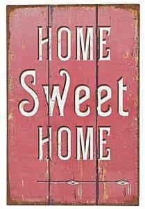 ΠΙΝΑΚΑΣ INART ΜΕΤΑΛΛΙΚΟΣ HOME SWEET HOME 20Χ30CM σπίτι  amp  διακόσμηση διακοσμητικα αντικειμενα ταμπελεσ
