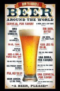 POSTER HOW TO ORDER BEER PYRAMID INTERNATIONAL 61 X 91.5 CM