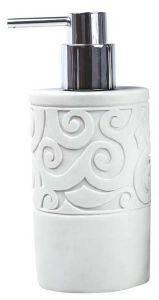 DISPENSER DIMITRACAS ROMANTIC ΠΛΑΣΤΙΚΟ ΛΕΥΚΟ 7X18CM σπίτι  amp  διακόσμηση αξεσουαρ μπανιου dispenser