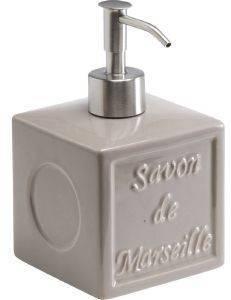 DISPENSER SPIRELLA SAVON DE MARSEILLE ΓΚΡΙ ΚΕΡΑΜΙΚΟ 8,5Χ8,5CM σπίτι  amp  διακόσμηση αξεσουαρ μπανιου dispenser