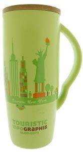 ΚΟΥΠΑ SPACECOW TOURISTIC NEW YORK ΠΡΑΣΙΝΟ 8X18CΜ 600ML