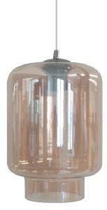 ΦΩΤΙΣΤΙΚΟ ΟΡΟΦΗΣ LUMA LIGHTING ΜΟΝΟΦΩΤΟ ΓΥΑΛΙ AMBER 18Χ26CM σπίτι  amp  διακόσμηση φωτιστικα φωτιστικα οροφησ