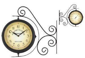 ΡΟΛΟΙ ΤΟΙΧΟΥ ΣΤΑΘΜΟΥ INART ΜΕΤΑΛΛΙΚΟ ΜΑΥΡΟ 37X9X33CM σπίτι  amp  διακόσμηση ρολογια ρολογια τοιχου