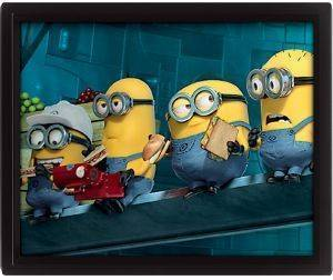 3D POSTER MINIONS 25.4X20.32CM σπίτι  amp  διακόσμηση 3d posters cartoon