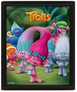3D POSTER TROLLS (CHARACTERS) 25.4X20.32CM σπίτι  amp  διακόσμηση 3d posters cartoon