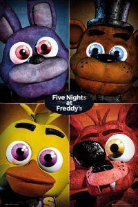 POSTER FIVE-NIGHTS-AT-FREDDY'S-QUAD 61 X 91.5 CM