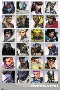 POSTER OVERWATCH-CHARACTER-PORTRAITS 61 X 91.5 CM