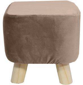 ΣΚΑΜΠΟ PALAMAIKI HOME VELVET FEEL COLLECTION VF805 MUSHROOM 28X28X28CM