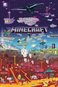 POSTER  MINECRAFT WORLD BEYOND 61 X 91.5 CM