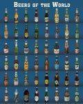 MINI POSTERS 40*50 - POSTER BEERS OF THE WORLD 40.6 X 50.8 CM