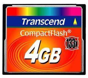 TRANSCEND TS4GCF133 4GB COMPACT FLASH 133X