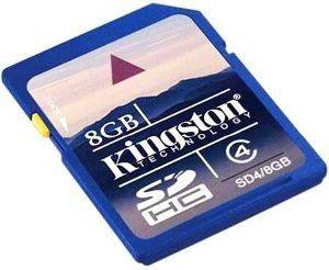 KINGSTON 8GB SECURE DIGITAL HIGH CAPACITY CLASS 4