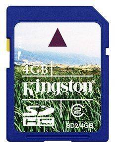 KINGSTON 4GB SECURE DIGITAL HIGH CAPACITY CLASS 2