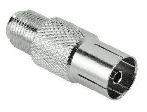 HAMA 43457 SAT ADAPTER F-FEMALE - COAXIAL FEMALE