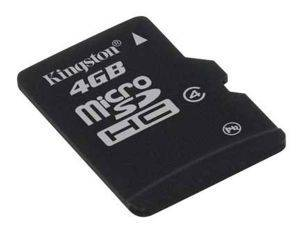 KINGSTON 4GB MICRO SECURE DIGITAL CLASS 4 HIGH CAPACITY