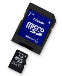 TOSHIBA 16GB MICRO SD HIGH CAPACITY CLASS 2 WITH ADAPTER