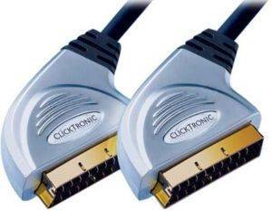 CLICKTRONIC HC1 SCART CABLE 21PIN 5M