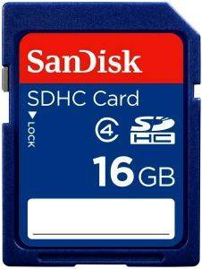 SANDISK 16GB SECURE DIGITAL HC CLASS 4