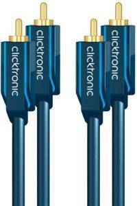 CLICKTRONIC HC40 AUDIO CABLE 2XRCA MALE TO 2XRCA MALE 15M CASUAL
