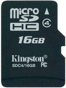 KINGSTON SDC4/16GBSP 16GB MICRO SDHC CLASS 4 NO ADAPTER