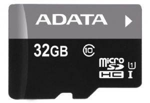 ADATA 32GB MICRO SECURE DIGITAL HIGH CAPACITY WITH ADAPTER UHS-I CLASS 10