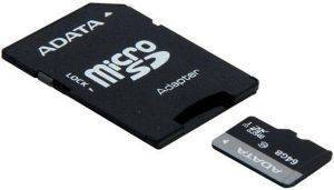 ADATA MICRO SDXC 64GB UHS-I WITH ADAPTER CLASS 10