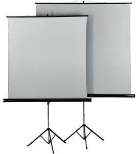 HAMA 18792 TRIPOD PROJECTION SCREEN 125 DUO WHITE/SILVER