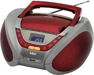 AEG SR 4358 STEREO RADIO WITH CD/MP3 RED