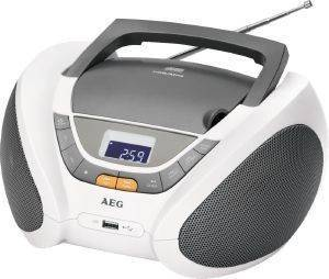 AEG SR 4358 STEREO RADIO WITH CD/MP3 WHITE