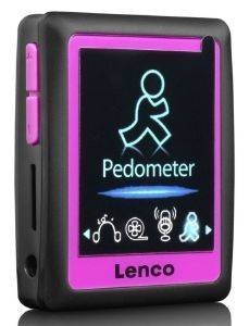 LENCO PODO-152 4GB MP4 PLAYER WITH PEDOMETER PINK
