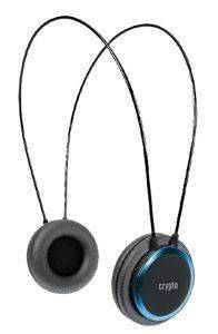 CRYPTO HP-100 ON-EAR HEADPHONE BLACK/BLUE