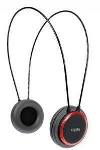 CRYPTO HP-100 ON-EAR HEADPHONE BLACK/RED