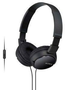 SONY MDR-ZX110AP EXTRA BASS HEADSET BLACK