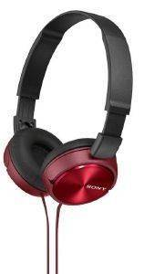 SONY MDR-ZX310R LIGHTWEIGHT FOLDING HEADBAND TYPE HEADPHONES RED