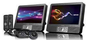 LENCO DVP-938 X2 9'' DUAL PORTABLE DVD PLAYER