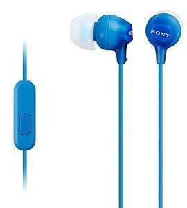 SONY MDR-EX15APL LIGHTWEIGHT IN-EAR HEADPHONES BLUE