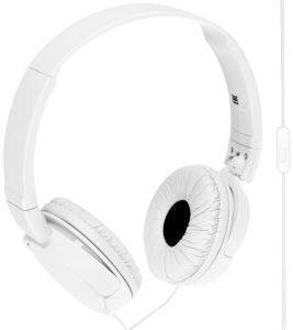 SONY MDR-ZX110AP EXTRA BASS HEADSET WHITE