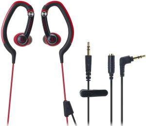 AUDIO TECHNICA ATH-CKP200 SONICSPORT IN-EAR HEADPHONES RED