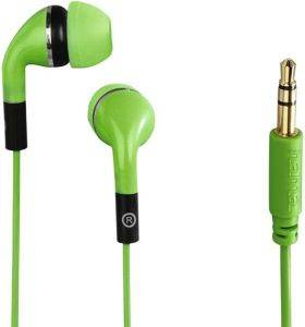 HAMA 135637 FLIP IN-EAR STEREO EARPHONES GREEN ήχος  amp  εικόνα mp3 ακουστικα earphones