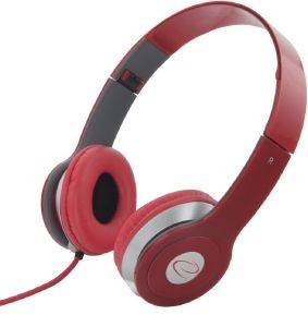 ESPERANZA EH145R STEREO AUDIO HEADPHONES TECHNO RED