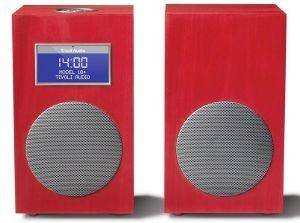 TIVOLI MODEL 10 M10CCR CONTEMPORARY COLLECTION WITH STEREO SPEAKERS CARMINE/ SILVER