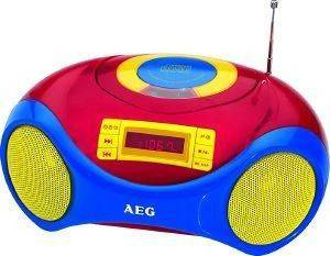 AEG SR 4363 PORTABLE STEREO RADIO WITH CD PLAYER KIDS LINE RED BLUE