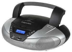 KRUGER & MATZ KM3902 BOOMBOX WITH CD/MP3/SD/USB/FM BLACK SILVER