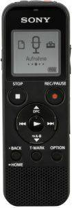SONY ICD-PX370 MONO DIGITAL VOICE RECORDER 4GB WITH BUILT-IN USB BLACK
