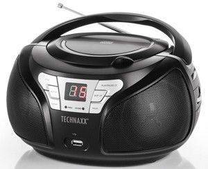 TECHNAXX BT-X38 BLUETOOTH STEREO RADIO WITH CD/MP3/USB/AUX-IN BLACK
