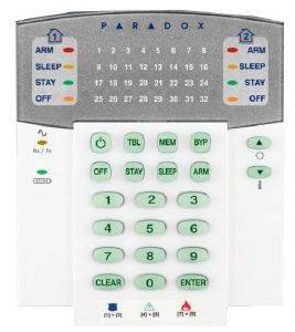 PARADOX K32RF 32-ZONE WIRELESS LED KEYPAD MODULE