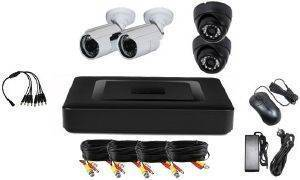 VANDSEC VK-A6104HXA13 DVR KIT AHD WITH 2 IR DOME AND 2 IR BULLET CAMERAS 3.6MM 960P